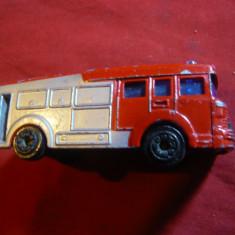 Masinuta de Pompieri, metal -Jucarie marca ERF Fire Tender, dim.= 7, 5x2, 7 cm
