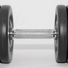 Gantera reglabila 10 kg - discuri cu ciment - Ax 30 mm - Noua, Gantere