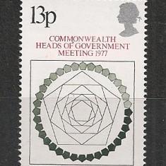 Anglia.1977 Conferinta sefilor de stat Commonwealth SA.360 - Timbre straine, Nestampilat