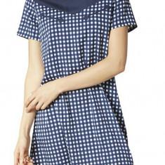 Rochie Vero Moda - art. 10155709 albastru carouri - Rochie de zi Vero Moda, Marime: XS, S, M
