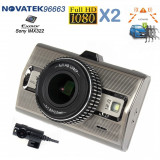 Camera Auto Dubla,Procesor NT96663,Sony IMX322,Full HD fata/spate,LDWS