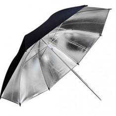 Umbrela Silver 88cm Argintie - pentru fotografia de studio, sedinte foto, etc. - Echipament Foto Studio, Umbrele reflexie