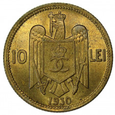 Romania 10 Lei 1930 HEATON MS 64 NGC UNC ! RAR ! - Piesa de colectie ! - Moneda Romania
