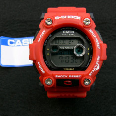 CEAS CASIO G-SHOCK DW-7900 CARNIN RED EDITION-MECANISM JAPONEZ-POZE 100% REALE ! - Ceas barbatesc Casio, Sport, Quartz, Cauciuc, Alarma, Electronic