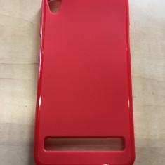 Husa Allview P6 Pro TPU Rosie - Husa Telefon, Rosu, Piele Ecologica, Cu clapeta, Toc
