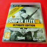 Joc Sniper Elite III ultimate Edition, PS3, original, alte sute de jocuri!
