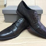 pantofi PIELE NATURALA maro G FERRY