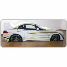 Pat copii masina BMW Zebra - Pat tematic pentru copii Altele, Altele, Alte dimensiuni, Alb