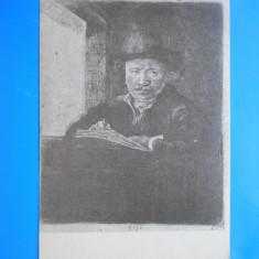 HOPCT  15005 C  GALATI /BIBLIOTECA V A URECHIA -REMBRANDT DESENIND -NECIRCULATA, Printata