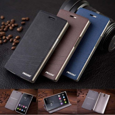 Husa flip cover Pelosi cu mod stand din piele ecologica pentru OnePlus One - Husa Telefon OnePlus, Negru