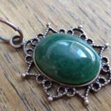 Pandantiv cupru agata verde brad