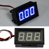 Voltmetru mini digital voltmeter dc 0-30V led albastru / rosu fosforescent