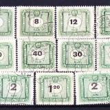 Timbre UNGARIA 1953 = PORTO NUMERAL - Timbre straine, Stampilat