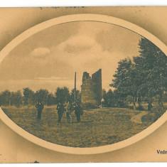 401 - CRAIOVA, Bibescu Park - old postcard - used - 1911 - Carte Postala Oltenia 1904-1918, Circulata, Printata
