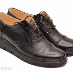 Pantofi dama negri casual-eleganti din piele naturala cod P32 - Made in Romania - Pantof dama, Culoare: Negru, Marime: 35, 36, 37, 38, 39, 40, Cu talpa joasa