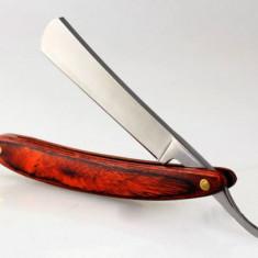Brici retro pentru barbierit red wood briciul este foarte ascutit