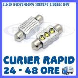 BEC AUTO LED LEDURI - SOFIT FESTOON C5W 36 mm - CREE 9W CANBUS FARA EROARE, Volkswagen, ZDM