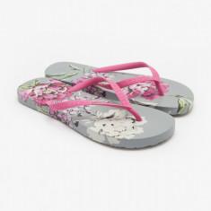 Papuci flip-flop Tom Joule - Sandy, gri floral - Slapi dama, Marime: 37