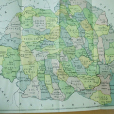 Romania 1924 Bucovina judetele inainte de impartirea adimistrativa din 1926 - Harta Romaniei