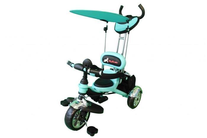 Tricicleta Pentru Copii Mykids Luxury Kr01 Albastru foto mare