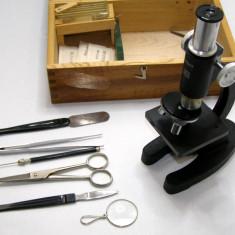 Microscop vintage Lunax 100x 200x 300x(215)