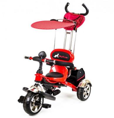 Tricicleta Pentru Copii Mykids Luxury Kr01 Rosu foto