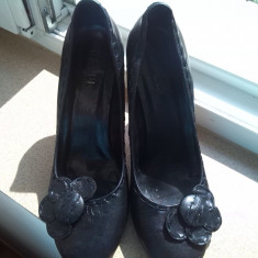 Pantofi dama negri marime 41 ravel - Pantof dama, Culoare: Negru