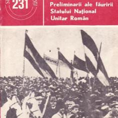 Dumitru Sultan - Preliminarii ale fauririi Statului National Unitar Roman - 35749 - Istorie