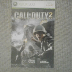 Manual - Call of Duty 2 - XBOX 360 ( GameLand ), Alte accesorii