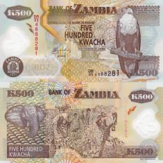 ZAMBIA 500 kwacha 2006 polymer UNC!!!