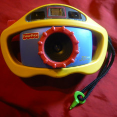 Aparat Foto Fisher Price -pentru copii, cu film 35 mm, vedere binoculara 1997