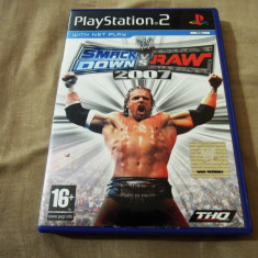 Joc WWE Smack Down vs Raw 2007, PS2, original, alte sute de jocuri! - Jocuri PS2 Thq, Sporturi, 18+, Multiplayer