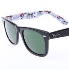 Ochelari de soare Ray Ban Wayfarer RB2140 1114 special series, Unisex, Verde, Patrati, Plastic, Protectie UV 100%