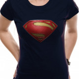 Tricou Fete Superman Man Of Steel - Textured Logo