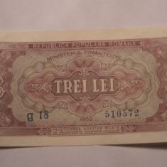 3 lei 1952 UNC - Bancnota romaneasca