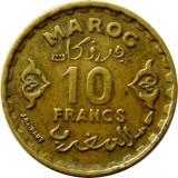 MAROC, 10 FRANCI_FRANCS 1952