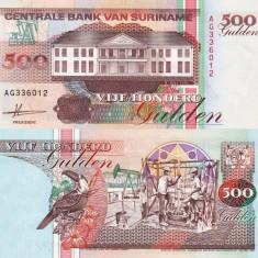 SURINAME 500 gulden 1991 UNC!!! - bancnota america