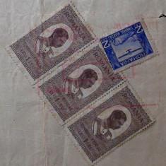 CHITANTA APA UZINELE COMUNALE BUCURESTI 1932 CU STAMPILA SI TIMBRE CAROL II ** - Pasaport/Document, Romania 1900 - 1950