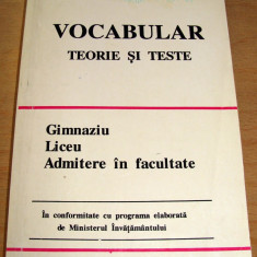 VOCABULAR /Teorie si teste - Marilena Chiriac / Marin Iancu - Teste admitere liceu