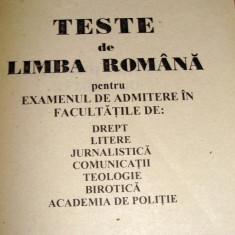 TESTE de limba romana pentru admitere in facultate - Nicolae Chiru - Teste admitere facultate