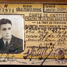 CARTE DE IDENTITATE CFR REGALISTA DIN 1947 IN STARE F BUNA ** - Pasaport/Document, Romania 1900 - 1950