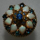 Inel aur 18k vintage deosebit pietre opal si safire