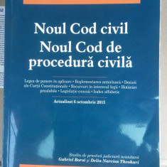 Noul Cod civil. Noul Cod de procedura civila. Actualizat 6 octombrie 2015 - Carte Drept procesual civil