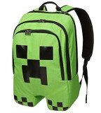 Ghiozdan scoala Minecraft - Creeper Backpack - Back to school + BRATARA CADOU !!, Verde