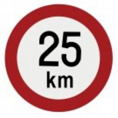 Indicator limita de viteza 25 km