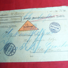 Plic Militar circulat 1936 vigneta triunghiulara ramburs -Posta specialaGermania