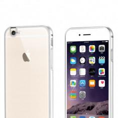 Bumper de aluminiu cu spate acril transparent pentru Iphone 6, silver - Bumper Telefon Apple