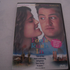 DVD original: Fools Rush In - Matthew Perry, Salma Hayek, sistem NTSC - Film romantice, Engleza