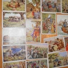 CARTONASE DE COLECTIE ISTORIA GERMANIEI - HERBA BILDERWERK VINTAGE 89 BUCATI - Cartonas de colectie