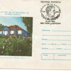 (No2) plic omagial- 100 de ani de la nasterea lui George Enescu, An: 1981